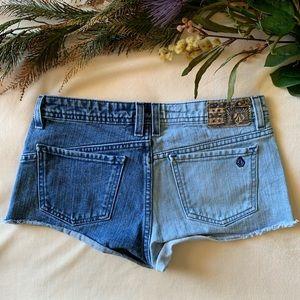 volcom high voltage cutoff short fit jean shorts